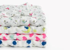 Gorgeous new baby blankets by Aden + Anais for J Crew
