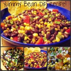 ... beans, dip recipe3, corn salsa, food, bean dip, dips, dip recipes