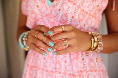 Mint and Gold #armparty