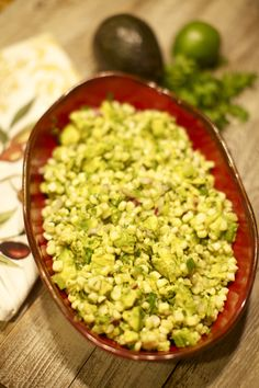 Warm avocado and corn salad - perfect for TexMex dishes.