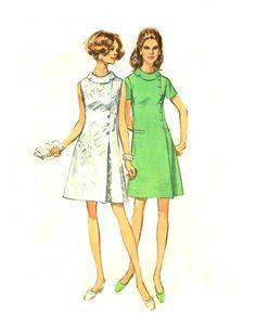 60s Mod Dress  Simplicity 8541  Roll Collar / by treazureddesignz