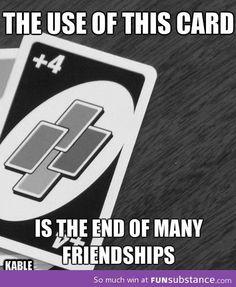 Uno +4 card