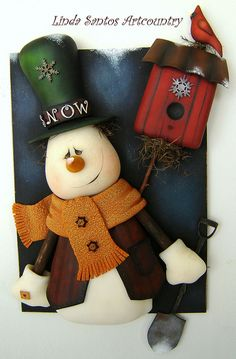 *SNOWMAN ~ Biscuit Country by Linda Santos Artcountry, via Flickr