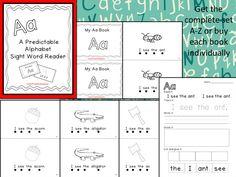 Alphabet and sight word books for kindergarten