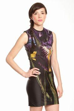 1stdibs | Christopher Kane Orchid Print dress