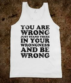 Wearing this next argument with my husband
