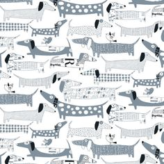 Loboloup Wiener Dog Wallpaper (set of 2) | ugh LOVE
