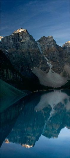 Moraine Lake vertical pano, Banff // photo by backpackphotography