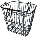 basil memories bottle basket.  made in the netherlands w/milk bottle outlines! hooks onto rear rack.