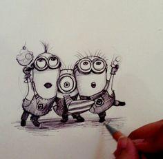 Minion Drawing on Pinterest