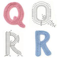 Free Crochet Pattern For The Letter O : Crochet Alphabet on Pinterest Crochet Letters, Crochet ...