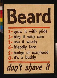 Men - Rules & symbolism for having a beard.