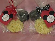Mickie & Minnie Chocolate Dipped Rice Crispy Treats