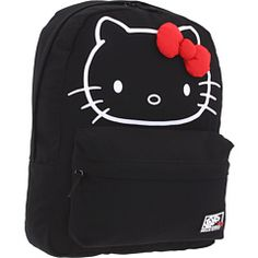 Hello Kitty would probably carry a cute change of clothes, an extra red bow, some of her famous homemade cookies, and a few treats for Charmmy Kitty, her loving pet. Now here's the real question: what would you carry in this cute Vans® backpack?