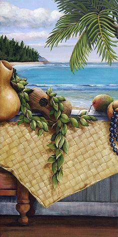 Hawaiian Still Life Panel Painting