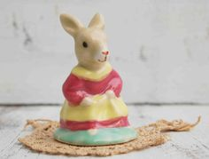 Vintage Mrs. Rabbit Porcelain Collectible