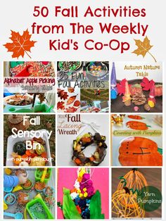 {Kid's Co-Op} 50 Fall Activities from the Kid's Co-Op + Our Fall FAIL!! #Fall #FineMotor