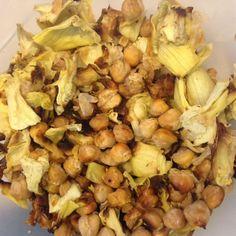 Skinny Summer Recipe: Roasted Chickpeas and Artichokes
