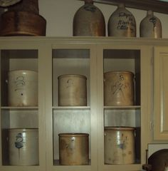 antiqu crock, laundry rooms, crock collect, laundri room, old crocks