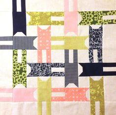 Cat Quilt Block by Better Off Thread