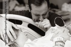 First time daddy sees baby. This could be day of birth or 4 months later for us. Either way this is a must!