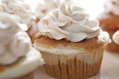 Cheesecake-Filled Pumpkin Cupcakes! http://www.yummly.com/recipe/Cheesecake-Filled-Pumpkin-Cupcakes-Food_com-131802