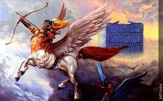 Su sociedad está formada por tribus donde suele haber una élite de centauros guerreros y, al menos, un sacerdote que será considerado el líder.  Es famosa su afición por el vino, que les tranforma en seres desagradables y algo toscos, incluso agresivos.  Una de las leyendas de la mitología griega cuenta que el primer centauro fue Chirón.