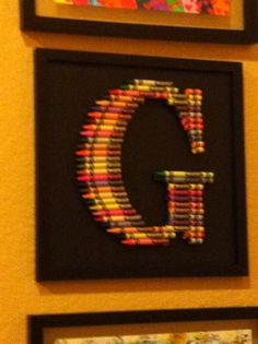 I saw this in a doctor's office. It is made from crayons! I thought it would be fun in a child's room.