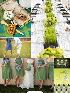 golf wedding ideas!