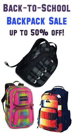 Back-to-School Backpack Sale ~ up to 50% off!! #kids #backtoschool #backpacks