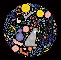 rabbit, color combos, summer colors, flower