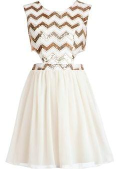 Chevron Shocker Dress by Rickety Rack