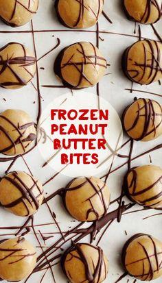 Frozen Peanut Butter Bites via Food Network