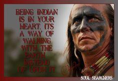 Being Indian is in your Heart...Cherokee - Proud of my Cherokee Heritage