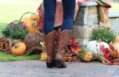 Monogrammed Rust Cowboy Boots - Marley Lilly. Perfect for Fall!