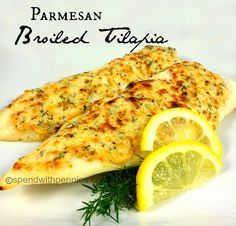 Parmesan Broiled Tilapia Love it?  Pin it!  (Just click the photo) Follow Spend With Pennies on Pinterest for more great recipes! This is hands down our MOST PINNED recipe!  Once you'll try it, you will see why! This is a great and quick recipe that my...