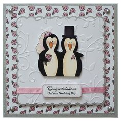 Free P Handmade Wedding Day Card £3.00 by Helle Belles Cards
