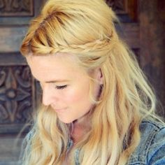 A perfectly easy boho braided style