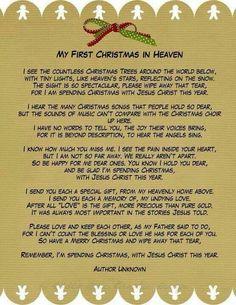 My 1st Christmas inHeaven