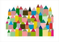 Scandinavian inspired art print, poster - Caroline Gomez