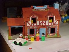 Fisher Price Cottage. I'm sure ours was yellow?