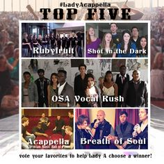 Congrats to the Lady Antebellum a cappella Top Five! Click the pin to see them all and vote for your favorite! #ladyacappella #ladyantebellum
