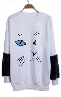 {Kitty Face Fleecy Sweater} super cute! #cats #kitty #catclothes