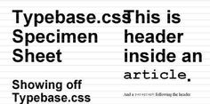 Typebase.css A starting point for good typography on the web.