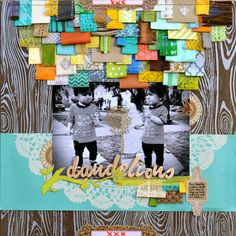Nice use of tabs, ribbons and scraps.