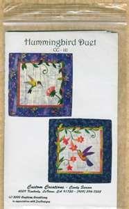 ... - Hummingbirds & Flowers 2 Delightful Applique Quilt Patterns