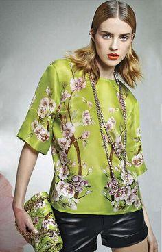 Green. Julia Frauche in @Jenn L Souza & Gabbana for @Vogue México March #DGeditorials by cool chic style fashion