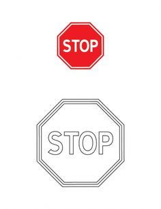 Stop traffic sign coloring page | Download Free Stop traffic sign coloring page for kids | Best Coloring Pages
