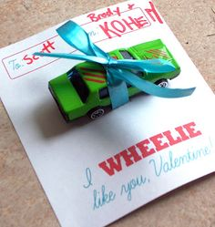 Valentine's for Brayden's pre-k class~for the boys kid valentin