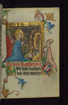 Illuminated manuscript, Prayer book of Bishop Leonhard von Laymingen of Passau, Martyrdom of St. Catherine of Alexandria, Walters Manuscript W.163, fol. 138r by Walters Art Museum Illuminated Manuscripts, via Flickr